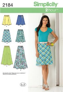 2184 Simplicity Pattern: Misses' Skirts